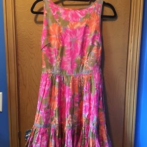 Pink and Orange party dress!